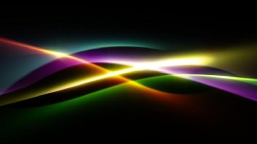 Футаж Световые волны HD (alpha)