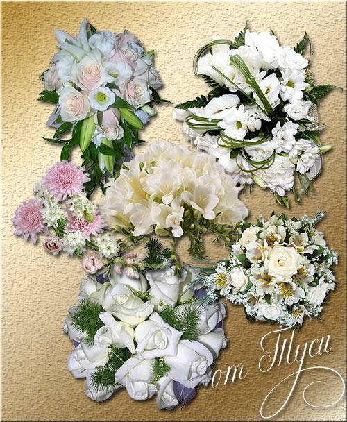 Клипарт - Я вам дарю букеты цветов