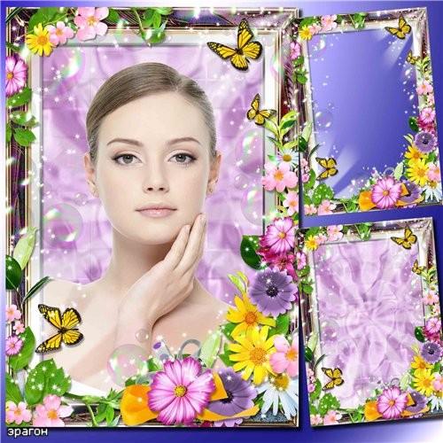 Цветочная рамка для фотошопа – Весенняя история