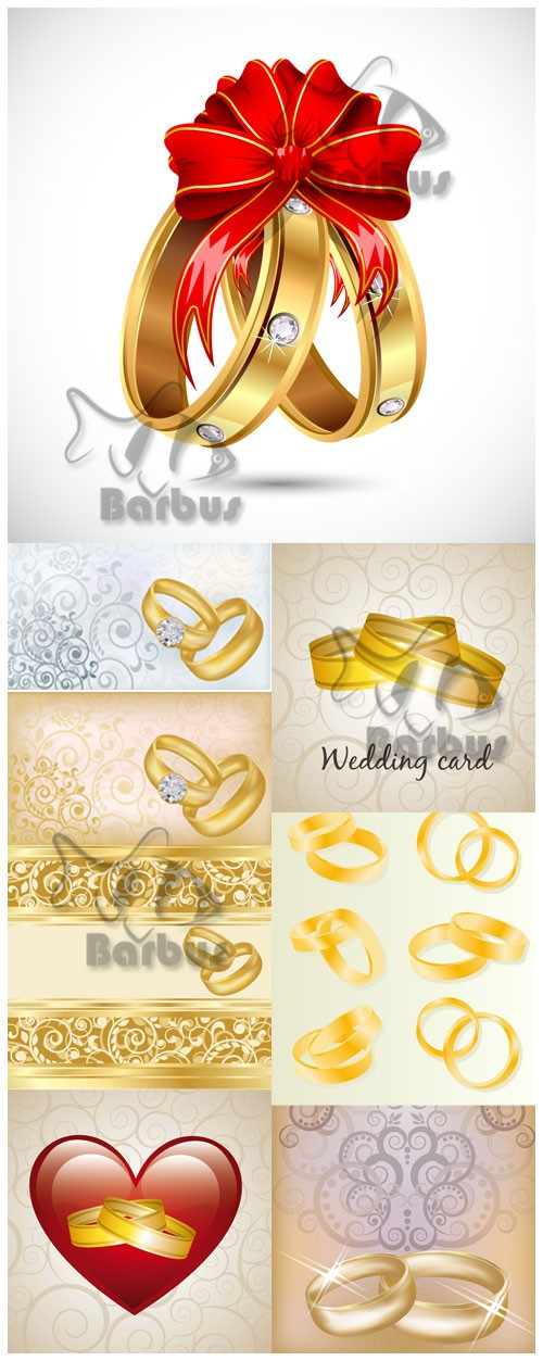 Gold rings for the newly married / Золотые кольца для молодоженов