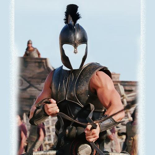 Шаблон мужской - Героический воин на колеснице