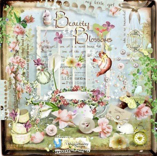 Цветочный скрап-набор - Цветущая красота