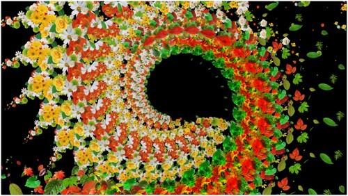 Футаж с альфаканалом - Цветочный хоровод