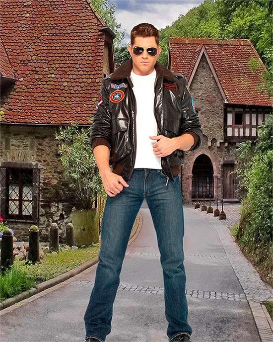 Мужской фотошаблон - Первый парень на деревне