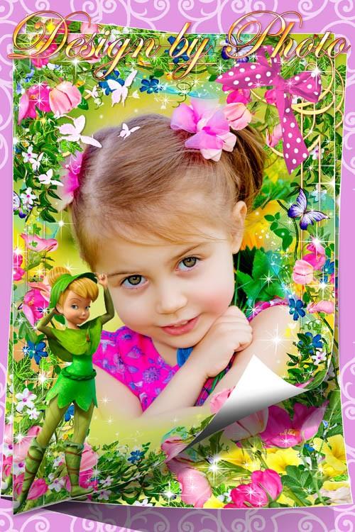 Детская рамка для фото - Фея Динь-динь