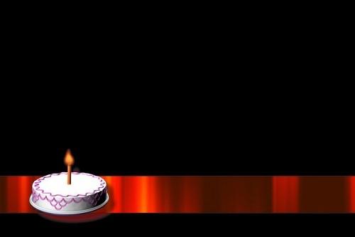 Празднечный футаж-подложка Тортик со свечой (alpha)