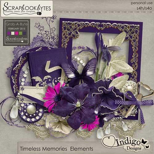 Цветочный скрап-набор - Нестареющие воспоминания