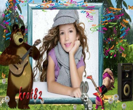 Детская фоторамка с героями мультфильма «Маша и медведь» – Хит сезона