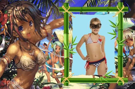 Рамочка детская для девочки - Море, солнце, песок