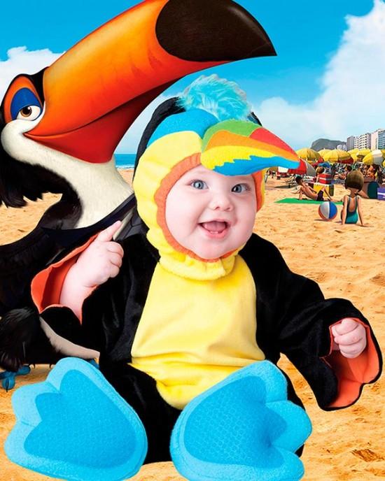 Детский фотошаблон - Сейчас расскажу о птице Тукан