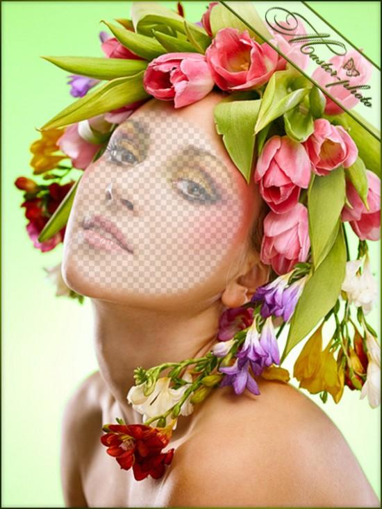 Женский шаблон для фотошопа - Гламурная весна
