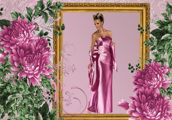 Рамка женская - Зайди в тихий сад