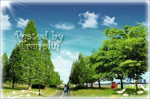 Многослойный исходник  - Парк, аллея