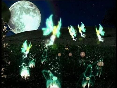 Детский футаж-заставка Ночные феи на полянке