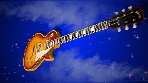 Красочный футаж на музыкальную тему - Гитара