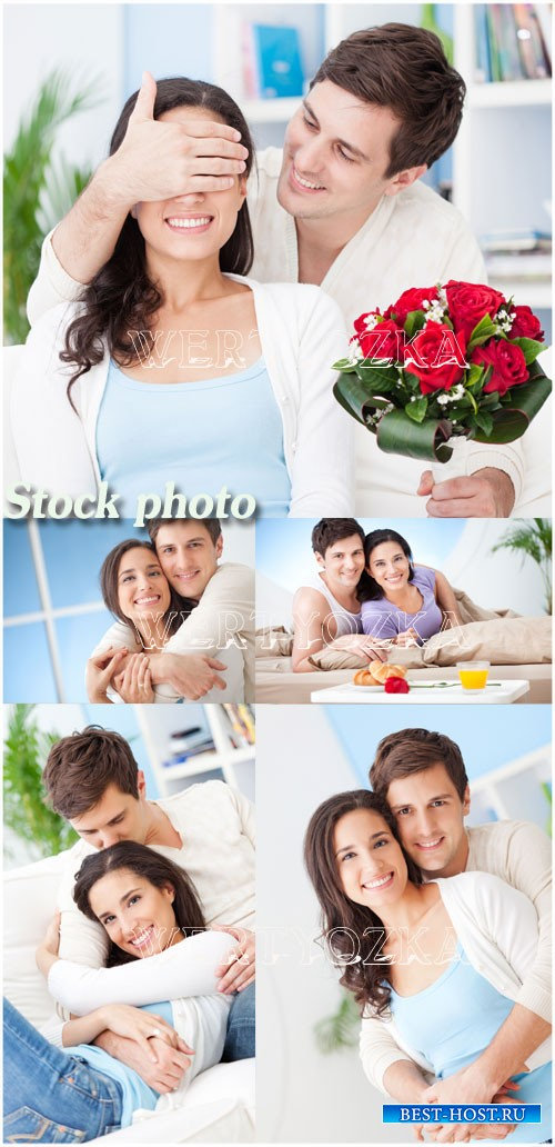 Романтичная пара / Romantic couple - Raster clipart