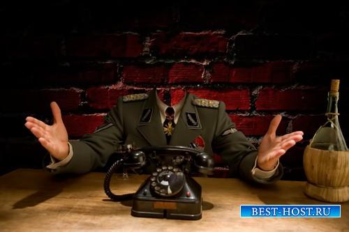 Шаблон для фотошопа  - Немецкий офицер
