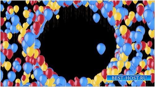 Футаж с альфой - Воздушные шары в кольце