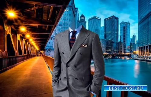 Шаблон для фотошопа  - Прогулка по Чикаго