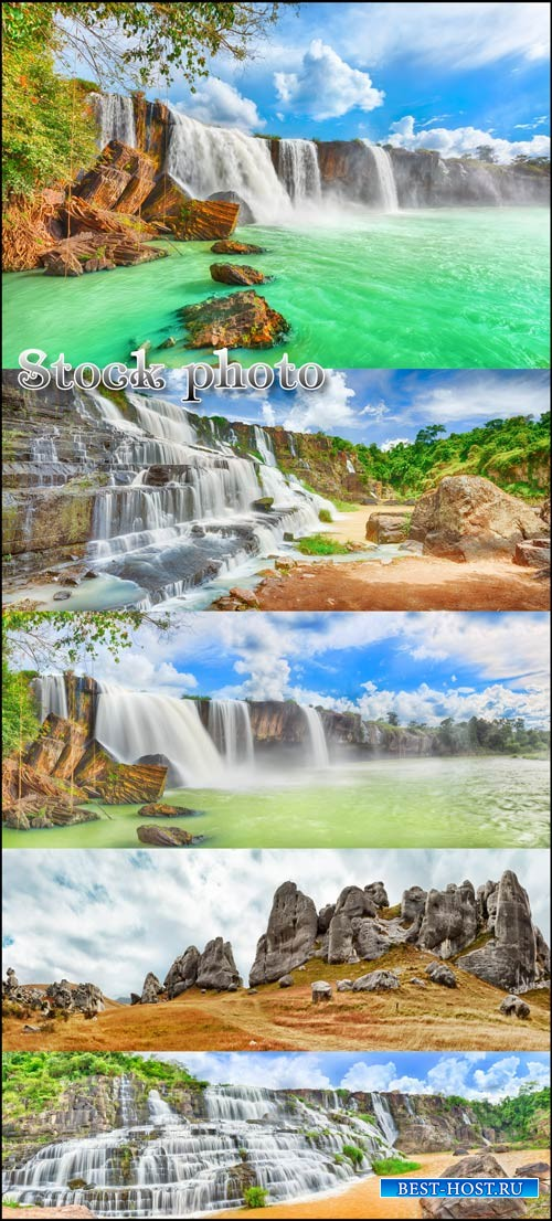 Водопады / Waterfalls, landscapes