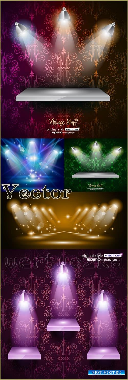 Яркий свет прожектора / Multi-colored glow of spotlights