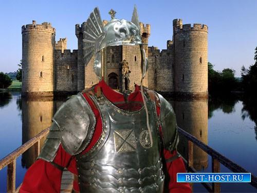 Шаблон для фото - Мужественный рыцарь в снаряжении