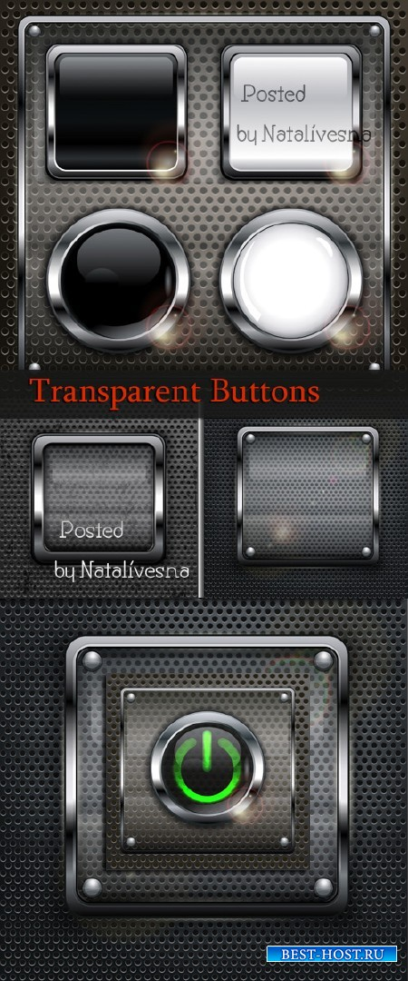 Прозрачные кнопочки / Transparent buttons - Stock photo