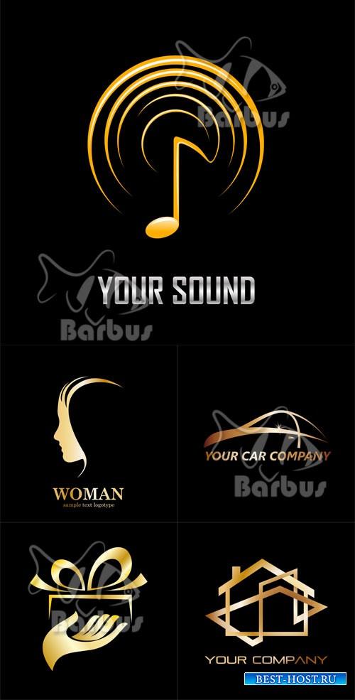 Gold logos / Золотые логотипы