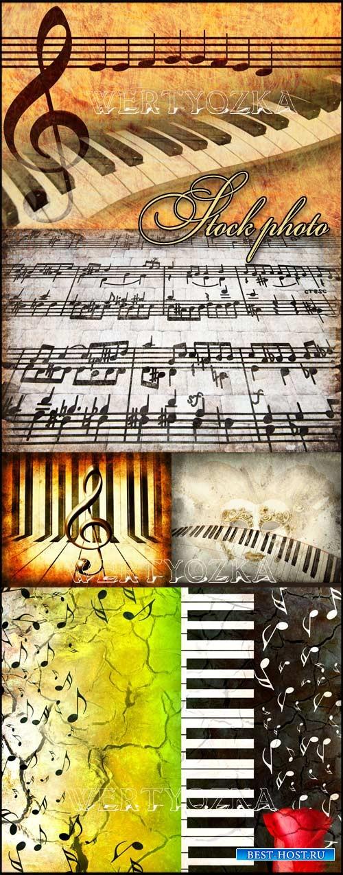 Фоны с музыкальными элементами, музыка / Music, musical backgrounds - Raste ...