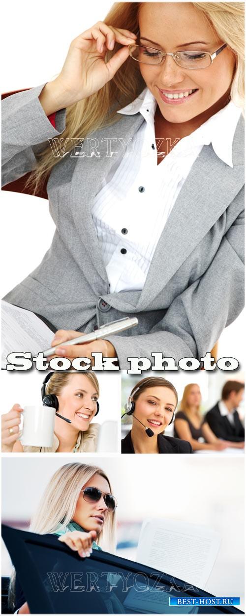 Деловые женщины, бизнес леди / Business lady - Raster clipart