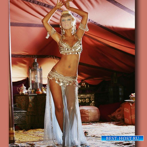 Женский шаблон - Красивый восточный танец