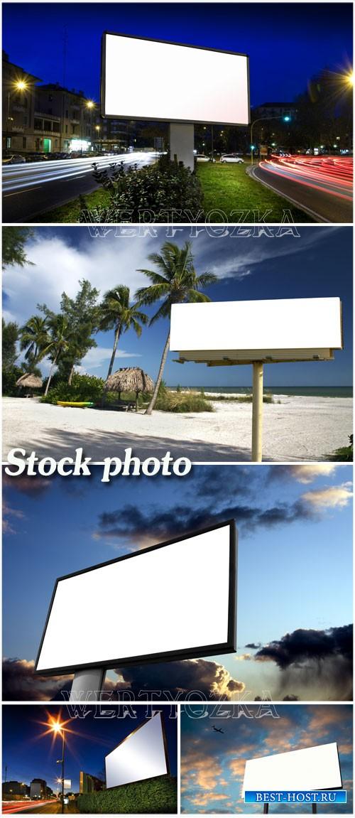 Бигборды , рекламные щиты / Billboards - Raster clipart