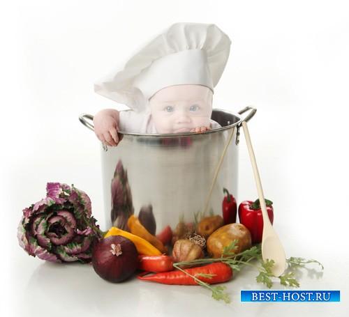 Детский шаблон - Малыш поварёнок