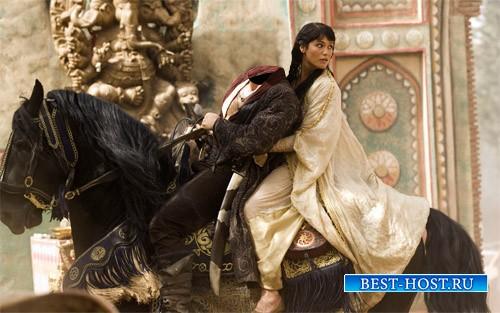 Шаблон для фотомонтажа - Украл принцессу на коне