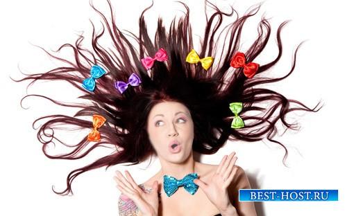 Женский шаблон - Красивые бантики в волосах