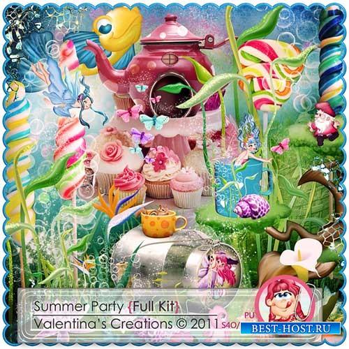 Летний набор для скрапбукинга - Летняя вечеринка