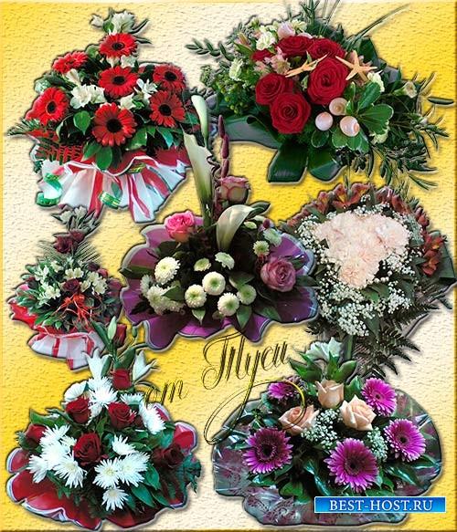 Клипарт - Букет цветов сравнится только с песней