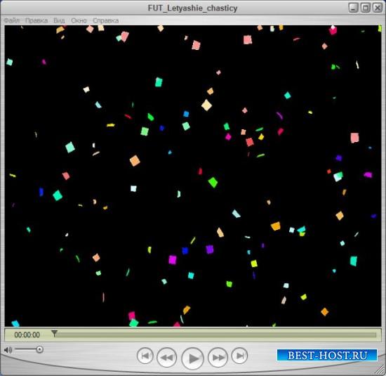 Футаж для оформления видео - Частицы в ночном небе