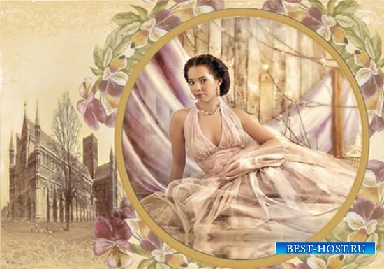 Рамка женская - Открытка из старого сундука