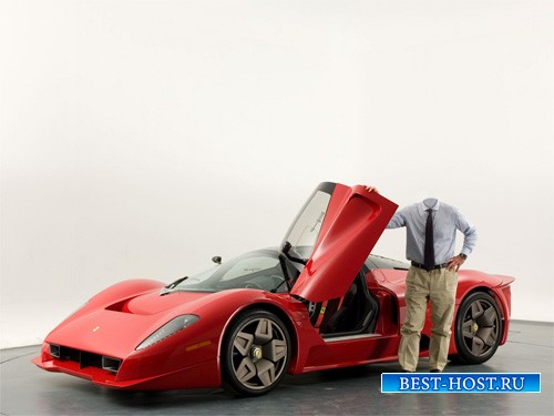 PSD шаблон - Хозяин Ferrari