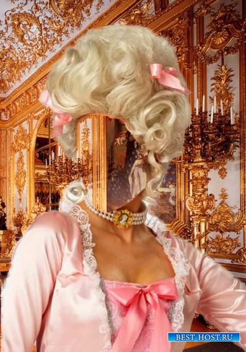 Шаблон для фотошопа  - Леди в розовом