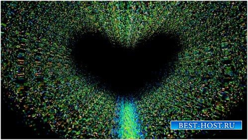 Футаж с альфаканалом - Сердце из частиц