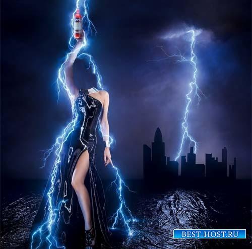 Шаблон для photoshop - Повелительница молний