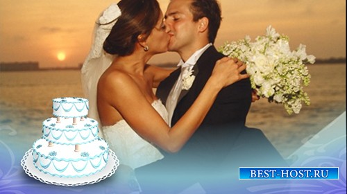 Футаж MOV свадебный торт