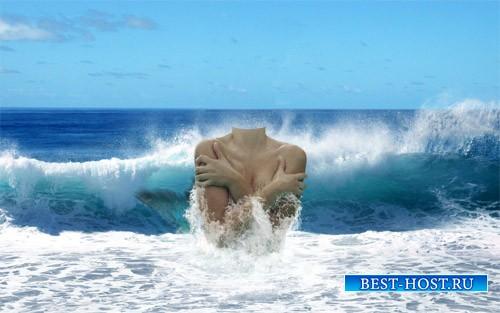 Шаблон женский - Русалка на волнах