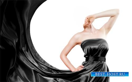 Шаблон для фото - В шикарном черном платье