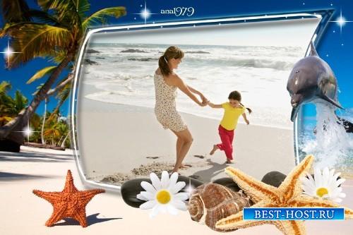 Рамка для фотошопа - Морское побережье