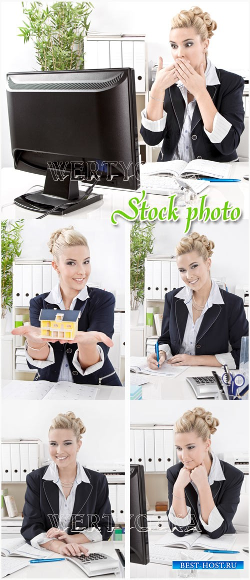 Красивая бизнес леди / Beautiful business lady - raster clipart