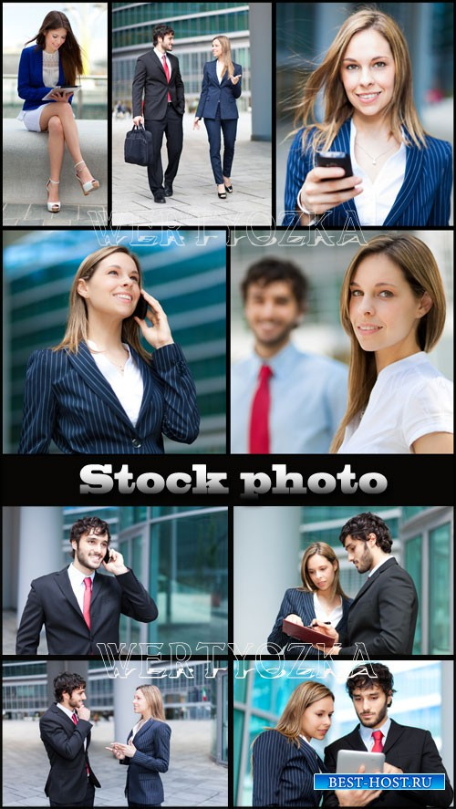 Бизнес люди / Business people - Raster clipart