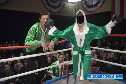 Истинная боксерша - шаблон для фото